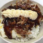 ポパイ - 料理写真:肉玉ライス(大)ソース味