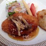 洋食屋 きし川 - メンチカツ&若鶏梅しそ巻き♡