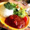 ラ・コンシェルジュ - 料理写真:サルサソースハンバーグ&ライス&サラダ