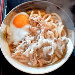 シラカワ - 肉玉うどん