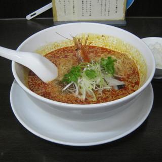 担々麺 杉山 - 料理写真:「担々麺」です。小ライスがサービスです。