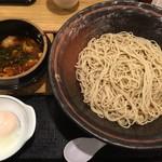 ウエスト - 【2016.10.16】辛もつ鍋汁セットそば(2玉)¥800