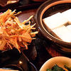 嵐山豆腐葵 - 料理写真:湯豆腐セットのかき揚げアップ