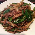 龍泉飯店 - 青椒肉絲定食 ¥780 の青椒肉絲