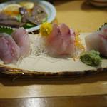 かもめ丸 - 地魚三点盛り~☆