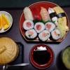 寿司こばやし - 料理写真:◆主人は「寿司定食」を。・・・寿司・茶碗蒸し・お味噌汁・果物のセット。 巻物は「鉄火巻き」「ネギトロ巻」「鉄火・ネギトロ:ハーフ&ハーフ」から選べます。