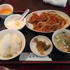 海外天 - 料理写真:鶏肉の甘酢定食201610