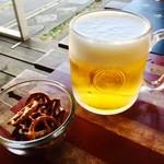 カフェ 彩の森 - 生ビールジョッキで乾杯!