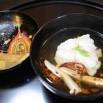 京都 吉兆 - お椀 カサゴと松茸
