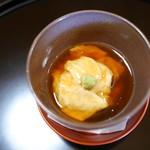 京都 吉兆 - 箸休め 汲み上げ湯葉あんかけと鰻