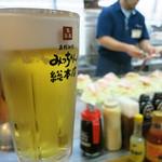 58495603 - 午前中から呑む生ビール、美味いっす!