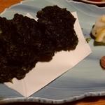 漁師料理 明神丸 - 青さノリの天ぷらです♪