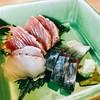 鮨 麻生 平尾山荘 - 料理写真:【お造り】『鯛の炙り、鰹のタタキ、〆鯖』様
