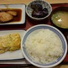 寝屋川池田食堂 - 料理写真:ぶりの照焼 玉子焼き(葱・紅生姜・雑魚) なす揚げびたし みそ汁 ごはん大