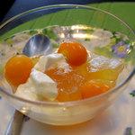 cafe花豆 - ほおずきのデザート