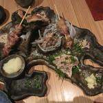 炭火ビストロ 華泉 - 料理写真:知覧どり珍味五品盛り