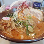 つじ製麺所 - 料理写真:ふるかわ手打ち辛味噌らーめん 700円