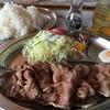 喫茶 食事 秋 - 料理写真:♪生姜焼きライス(コーヒー付き)¥900