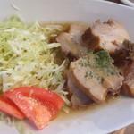 みーとカフェ - 豚バラ肉黒ビールラグー(ランチプレート)