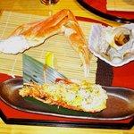 吉祥寺庭宴 - 伊勢海老焼き・炙りズワイ蟹・サザエの壷焼き