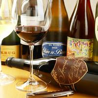世界各国のワインを100種類常備!!
