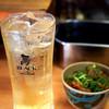 元祖串かつ だるま - 料理写真:ハイボールとどて焼き。