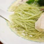 麺屋 六感堂 - グリーン麺