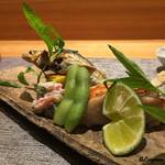 58638171 - 徳島県産の天然鮎