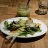 ラシーヌ ミートボールアンドローカル テーブル - 料理写真:パスタランチ(1200円)のサラダとドレッシング。このドレッシングがおいしい