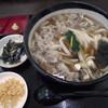 ますや製麺 - 料理写真:肉汁かけ(イベリコ豚)大盛。並と同料金