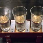 そば処 無茶庵 - 日本酒飲み比べ(1,350円)