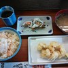 彩菜食堂 - 料理写真:鯛めし、アナゴ天、キビナゴ南蛮漬け