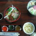 網走海鮮市場 - 海鮮丼と石狩鍋