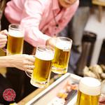 海の家ヒノマル - ビールで乾杯!