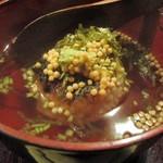 しし翁 - 松茸ご飯の焼きおにぎり 鱧だしお茶漬け(アップ)