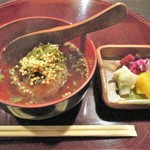 しし翁 - 松茸ご飯の焼きおにぎり 鱧だしお茶漬け
