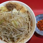 千里眼 - ラーメン ニンニク ショウガ カラアゲ別皿で 730円