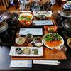 舘乃湯 - 料理写真:夕食(はじめに並んでいた料理)(2016年11月)