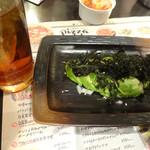 バリバリ鶏 - 青海苔とアボカドです