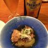 三重ノ海 - 料理写真:お通し&ビール