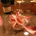 ル・ゴーシュ・セキ - 戻りガツオのサラダ、白グラス16.10