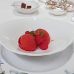 リストランテ 濱崎 - リンゴのシャーベット