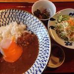 桂茶屋 - 豊後牛スジカレー(温玉付) 750円