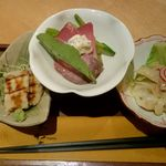 菜な - おばんざい三種盛:1,000円