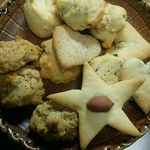 道の駅 伊勢本街道 御杖 - 米粉を使ったクッキー200円(税込) 地元産のほうれん草等も入っているそう。