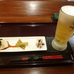 一酵や - 2016年10月 生ビール 550円