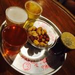 バーバー東京 - 選べる4種テイスターセット 富士桜高原麦酒ピルス、常陸野ネストビール ホワイトエール、アウグスIPA、東京ブラックリアルエール