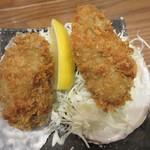 北海道厚岸 - 蟹わっぱにも、カキフライ