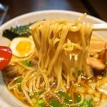麺のようじ - 鶏醤油らーめん(麺)