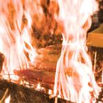 明神丸 - 目の前で焼かれています。